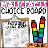 Addition & Subtraction Math Fact Enrichment Activities - Math Menu, Choice Board