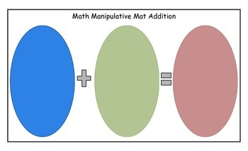 Freebie Addition Subtraction Facts Math Manipulative Mats w/Record Book Template
