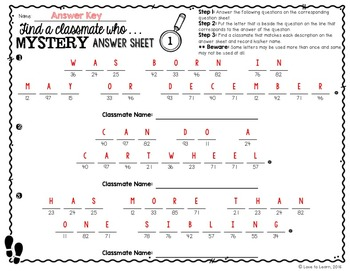 Addition & Subtraction Math Mystery Phrases - Find a Classmate Edition