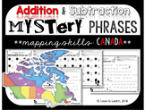 Addition & Subtraction Math Mystery Phrases - Mapping Skills Canadian Edition