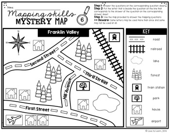 Addition & Subtraction Math Mystery Phrases - Mapping Skills Edition