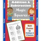 Addition & Subtraction Math Puzzles / Magic Squares / 2nd