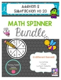 French Addition & Subtraction Math Spinner Bundle!!