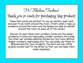 ALL Year Word Problem Task Cards {Addition & Subtraction}