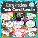 ALL Year Addition & Subtraction Word Problem Task Cards Bundle