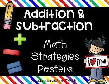 Addition & Subtraction Math Strategies Posters