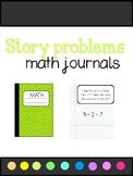 Addition/Subtraction Math journals