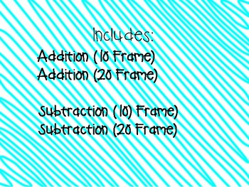 Addition & Subtraction Mats (with 10 frames)