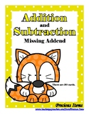 Addition & Subtraction Missing Addend to 20 - Foxes