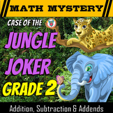 Addition, Subtraction & Missing Addends Math Mystery: Case of the Jungle Joker