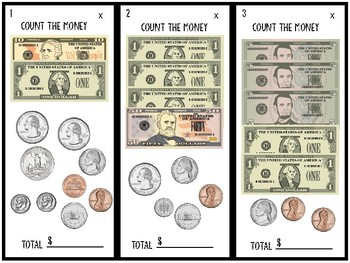 Addition Subtraction Money Cards with Boxed Recording Sheet