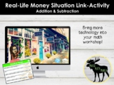 Addition & Subtraction Money Word Problems Link-Activity *Distance Learning*
