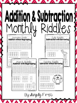 Addition & Subtraction Monthly Riddles