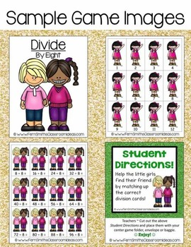 Addition Subtraction Multiplication Division Quick & Easy to Prep Center Bundle