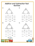 Addition - Subtraction & Multiplication - Division Fact Family Activities