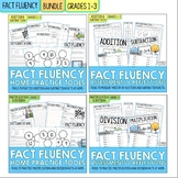 Addition Subtraction Multiplication and Division Math Facts Fluency | BUNDLE