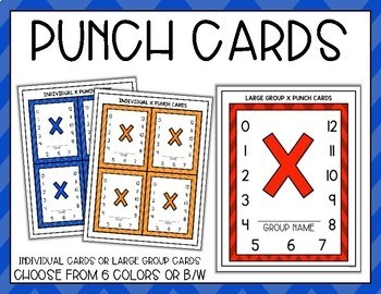 Addition, Subtraction, Multiplication, Division Fact Punch Card Bundle - Owls