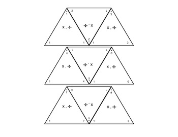 Addition & Subtraction, Multiplication & Division Fact Triangles