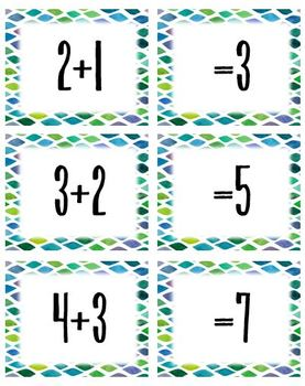 Addition/Subtraction/Multiplication/Division Facts Memory Game - LP & Materials
