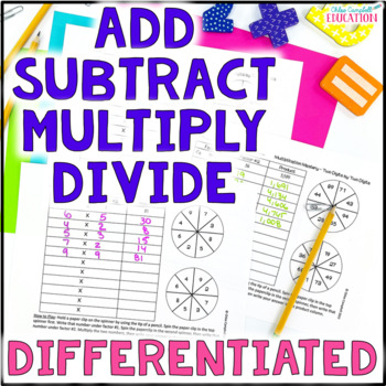 Addition, Subtraction, Multiplication, Division Spinner BU