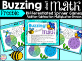 Addition Subtraction Multiplication Division Spinner Game Freebie
