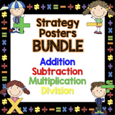 Addition, Subtraction, Multiplication & Division Strategy Posters Bundle