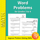 Addition, Subtraction, Multiplication & Division Math Word Problems   Grades 3-4