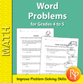 Addition, Subtraction, Multiplication & Division Word Problems for Grades 4-5
