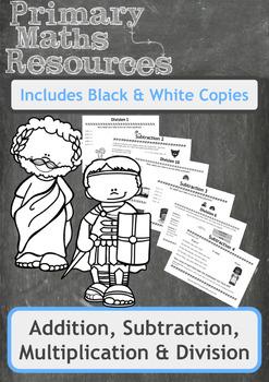Addition,Subtraction,Multiplication + Division Worksheets + Themed Worksheets