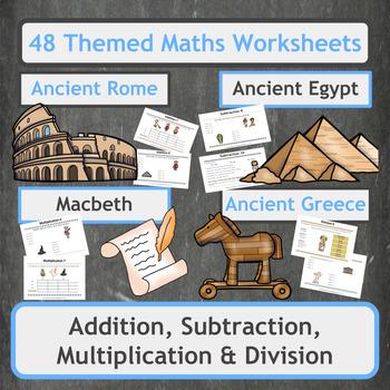 Addition,Subtraction,Multiplication + Division Worksheets