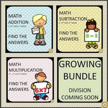 Addition,Subtraction,Multiplication Find the Answers (Grow