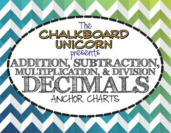 Decimals: Addition, Subtraction, Multiplication, & Division (English & Español)