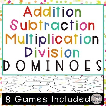 Addition, Subtraction, Multiplication, and Division Dominoes Bundle