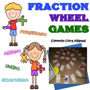 Addition, Subtraction, Multiplication, and Division Fraction Game