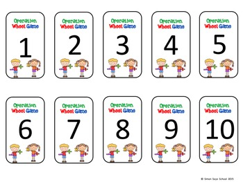 Addition, Subtraction, Multiplication, and Division Game