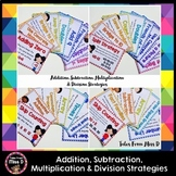 Addition, Subtraction, Multiplication and Division Strategy Posters