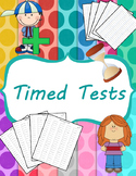 Addition, Subtraction, Multiplication and Division Timed Tests (0-12) and Mixed