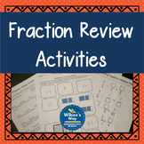 Addition,Subtraction,Multiplication and Division of Fractions Review Activities
