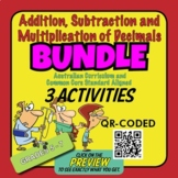 Addition, Subtraction & Multiplication of Decimals – 3 ACTIVITY SHEET BUNDLE
