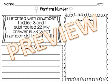 Addition & Subtraction Mystery Numbers Mega Bundle