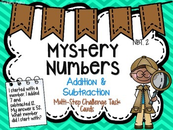Addition & Subtraction Mystery Numbers