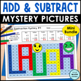 Addition & Subtraction Mystery Pictures BUNDLE of Math Printables