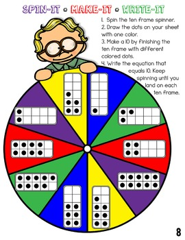 Addition & Subtraction (No Regrouping) Spin-Its Math Stations