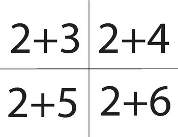 Addition/Subtraction Number Cards