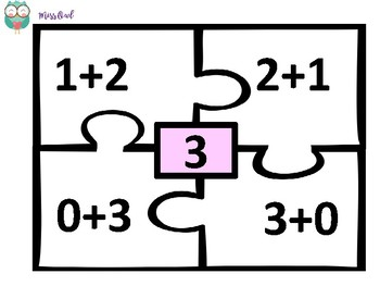 Addition & Subtraction Number Puzzles! Black and White!