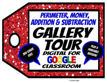Addition, Subtraction, Perimeter, and Money Gallery Tour: Digital & Printable