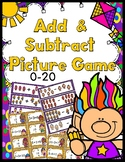 Adding & Subtracting Game (0-20) - 40 Task Cards!