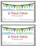 Addition, Subtraction & Place Value {Mini Review Booklet}