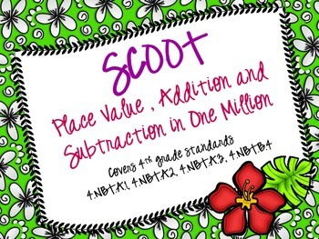 Addition, Subtraction, Place Value Scoot (Common Core)