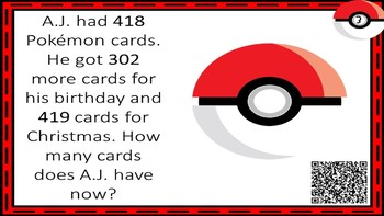 Addition & Subtraction Pokemon Go Review with QR Codes
